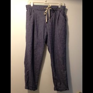 Old Navy pants joggers linen cotton